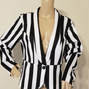 Ashley Stewart Stripe Jacket New With Tags